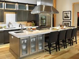 Long Kitchen Island Kitchen Island With Seating And Stove Tile Backsplash Unfinished