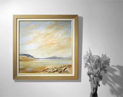 a traditional framed canvas without glass with inner spacer creating a break between image and frame still the same premium cotton canvas printed with
