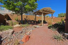 desert gardening. Peaceful Backyard Design Desert Gardening