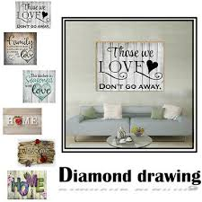 <b>5D</b> Family <b>Diamond</b> Painting <b>Cross Stitch</b> Kit <b>Needlework</b> ...