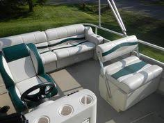 Replacing used pontoon boat furniture with new