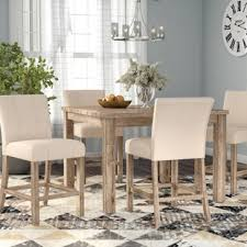 height of dining room table. shaunda casual 5 piece counter height dining set of room table