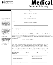 Power Of Attorney For Child Care Power Of Attorney Template Free Template Download