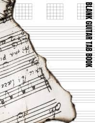 Amazon Com Blank Guitar Tab Book Standard Tuning Chord