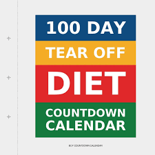 100 Day Tear Off Diet Countdown Calendar Amazon Co Uk Buy
