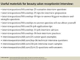 Salon Receptionist Job Description Top 10 Beauty Salon Receptionist Interview Questions And Answers