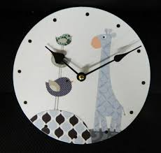 clock french country vintage inspired wall clocks time blue giraffe small 19cm