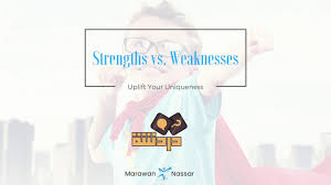 strengths vs weaknesses strengths vs weaknesses