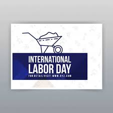 labor day theme labor day typographic design with blue theme vector vector free