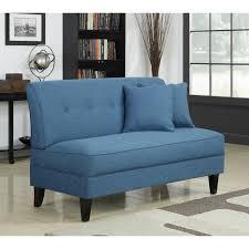 Unique Loveseats Handy Living Engle Caribbean Blue Linen Armless Loveseat By Handy