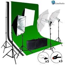 background support system 800w 5500k umbrella softbox lighting kit for photo studio portfolio and shooting photography studio
