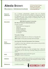 Best Resume Templates 2017 Cool Free Business Administration Resume Templates Business Resume
