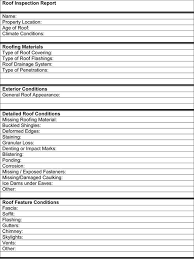 roof inspection template page one