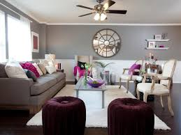 Living Room Accent Colors Living Room With Grey Wall Colors And Purple Accents Colors That