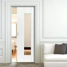 sliding pocket doors interior single pocket symmetry axis white sliding door system in three size widths with clear glass sliding glass pocket doors