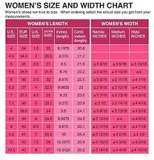 Womens Shoe Size Conversion Chart Us Uk Eu Japanese Printed And Mailed 2 U Ebay