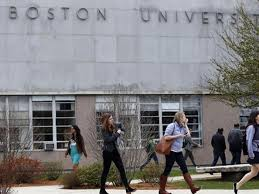 boston university reaches billion fund raising goal the boston massachusetts 4 23 2015 students file across the
