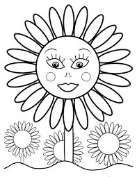 Small Picture Sunflower Coloring Page esonme