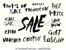 Sale Quote Set Of Sale Quotes Hand Brush Lettering Collection