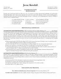 Auto Sales Resume Sample Kordurmoorddinerco Simple Car Sales Resume