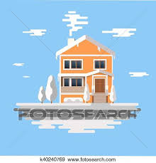 Winter House Image Of The Orange Brick Christmas Houses