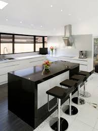 Inspiration For A Contemporary Kitchen Remodel In Sydney With Flat Panel  Cabinets, White Cabinets