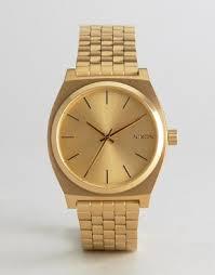 men s designer watches luxury watches for men asos nixon time teller bracelet watch in gold
