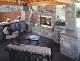 consider based on budget outdoor kitchen with fireplace