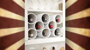 If you have an awkward space between walls in your home or a spot you'd  like a wine rack but can't find something that fits, consider making your  own out of ...