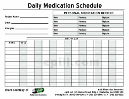 Free Daily Medication Chart To Print