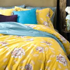 yellow duvet cover sets uk brief fl 4pcs queen king size bedding sets egyptian cotton bedlinens