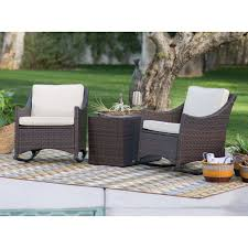 c coast harrison 3 piece club style rocking chairs with side storage table hayneedle