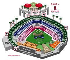 Edison Field Seating Chart Angel Stadium Of Anaheim Anaheim Ca Seating Chart View