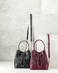 Tory Burch Marion Quilted Mini Bucket Bag, Black & Marion Quilted Mini Bucket Bag, Black Adamdwight.com