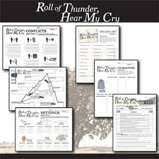 Roll Of Thunder Hear My Cry Symbolism Chart Roll Of Thunder Hear My Cry Unit Plan Novel Study Bundle Literature Guide