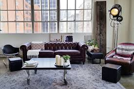 Industrial Design Living Room Warm Industrial Apartment Therapy