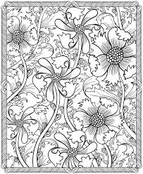 Small Picture 175 best Coloring pages flowers and leaves images on Pinterest