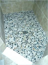 pebble tile shower floor stone floors a charming light reviews cleaning