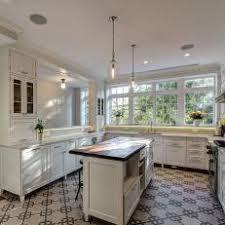 white kitchen dark tile floors. White Transitional Kitchen With Bold Tile Floor Dark Floors U