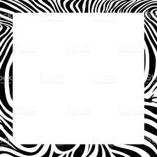frame design. Zebra Print Border, Frame Design. Royalty-free Border Design Stock
