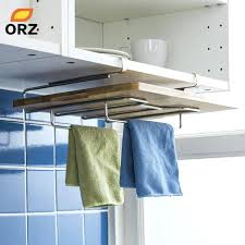 kitchen towel holder cutting board rack chopping magnetic dish cloth for sink nz on