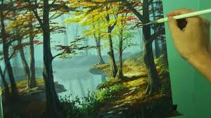 acrylic landscape painting tutorial autumn in forest by jm lisondra you