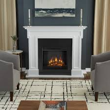 thayer 54 in electric fireplace in white
