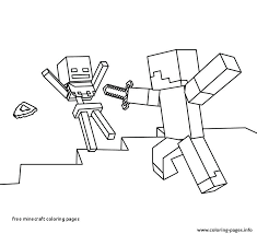Minecraft Steve Coloring Pages Beautiful Free Minecraft Coloring
