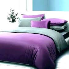 grey purple bedding set king size cotton blend bed sheet single quilt cover double solid color