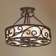 iron ceiling lights rustic ceiling