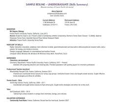 Free College Resume Templates Resume Letter Directory