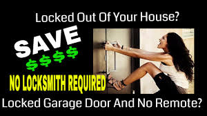 how to open a locked garage door from the outside without garage door opener remote