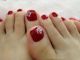Cute Pedicure Designs Toe Nail Art With Flowers Cute Pedicure Nail Designs For