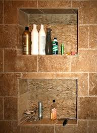 shower wall inserts built in recessed dimensions and locations shelf